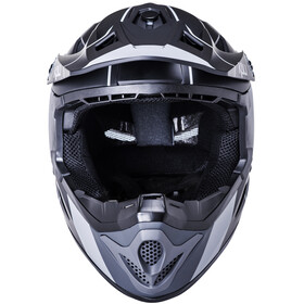 Kali Zoka Stripe Helmet Youth, matt black/grey